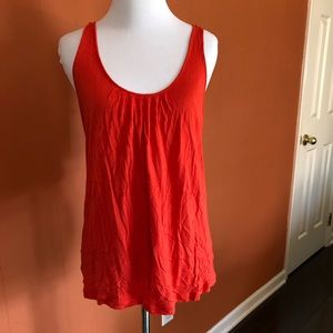 Anthropologie Eloise tank top bright red